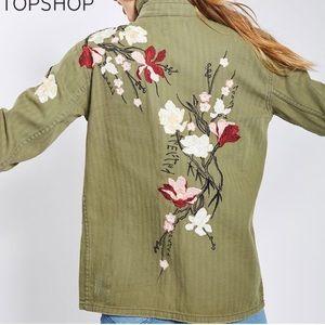 Topshop Embroidered Jacket